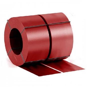 Штрипс с полимерным покрытием Ral 3005 (красное вино)