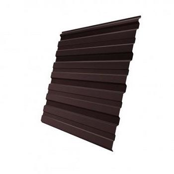 Профнастил С10 RAL 8017 двухсторонний (шоколадно-коричневый)