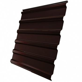 Профнастил С20 RAL 8017 (шоколадно-коричневый) двухсторонний