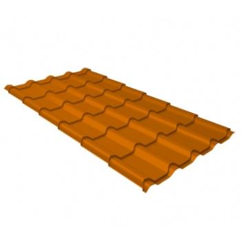 Металлочерепица камея RAL 2004 оранжевый