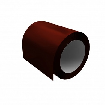 Оцинкованный рулон 0,45х1250 мм с полимерным покрытием Ral 3009 оксидно-красный