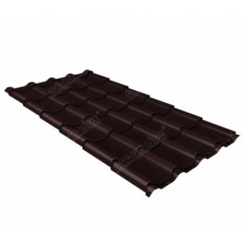 Металлочерепица камея PE RAL 8017 шоколад