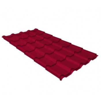 Металлочерепица камея RAL 3003 рубиново-красный