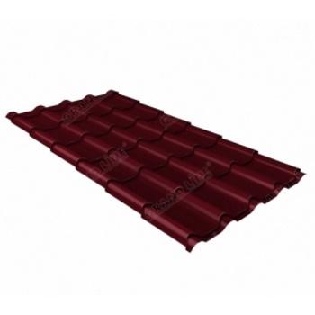 Металлочерепица камея RAL 3005 красное вино