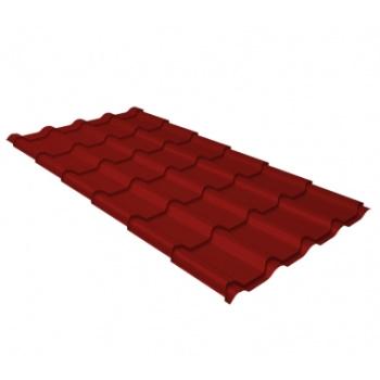 Металлочерепица камея RAL 3011 коричнево-красный