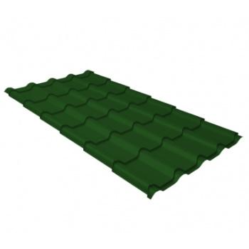Металлочерепица камея RAL 6002 лиственно-зеленый