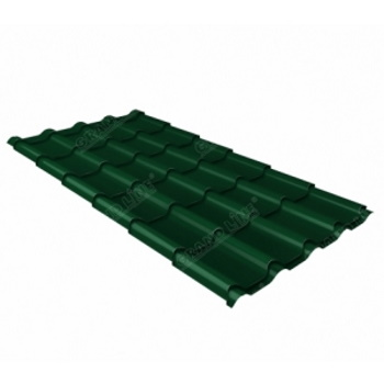Металлочерепица камея RAL 6005 зеленый мох