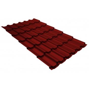 Металлочерепица квинта плюс RAL 3011 коричнево-красный