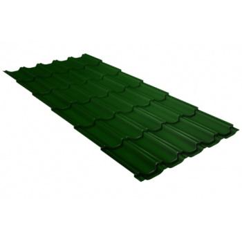 Металлочерепица квинта плюс RAL 6002 лиственно-зеленый