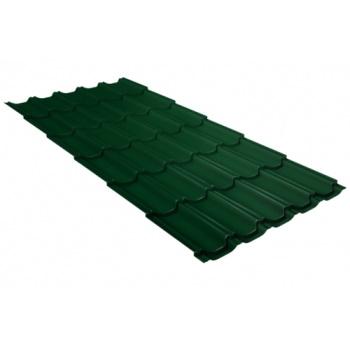 Металлочерепица квинта плюс RAL 6005 зеленый мох