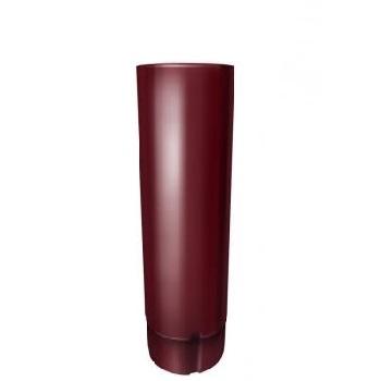 Труба водосточная Grand Line 90 мм 3 м RAL 3005 красное вино