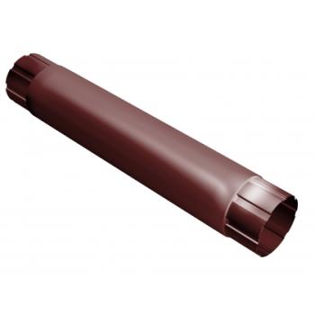 Труба водосточная Grand Line 90мм 1м RAL 3011 коричнево-красный