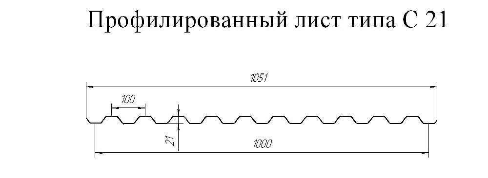 схема профлиста С21