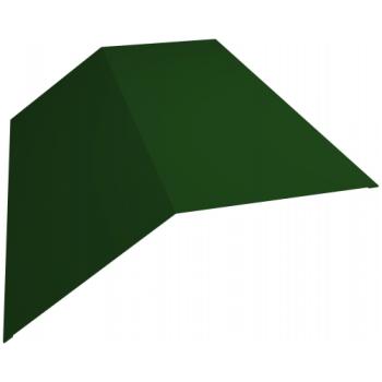 Планка конька плоского 145х145 0,45 PE с пленкой RAL 6002 лиственно-зеленый