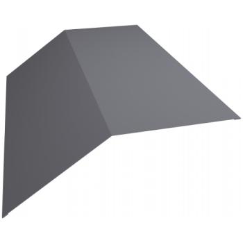 Планка конька плоского 190х190 0,45 PE с пленкой RAL 7004 сигнальный серый