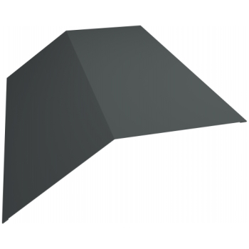 Планка конька плоского 190х190 0,45 PE с пленкой RAL 7005