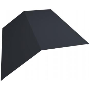Планка конька плоского 190х190 0,45 PE с пленкой RAL 7024 мокрый асфальт