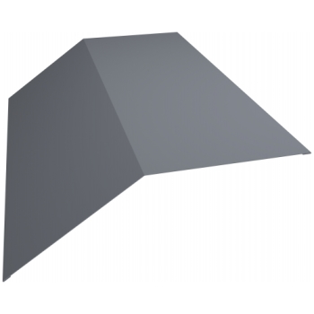 Планка конька плоского 190х190 0,45 PE с пленкой RAL 9006 бело-алюминиевый