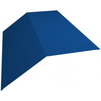 Планка конька плоского 190х1900,45 PE с пленкой RAL 5005 сигнальный синий
