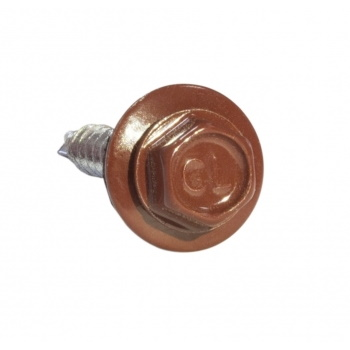Саморезы 4.8х50 RAL 3011 Красно-коричневые