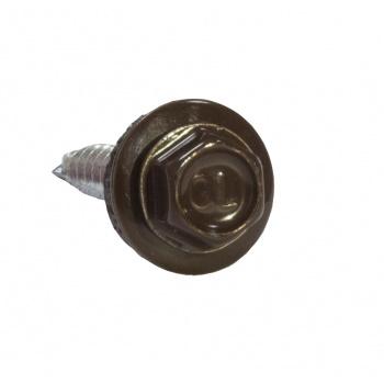 Саморезы 4.8х50 Ral 8017 шоколадно-коричневые