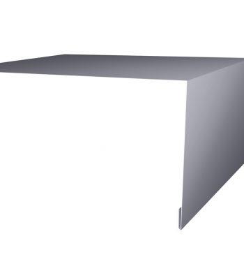 Планка околооконная простая 200х50 RAL 7004