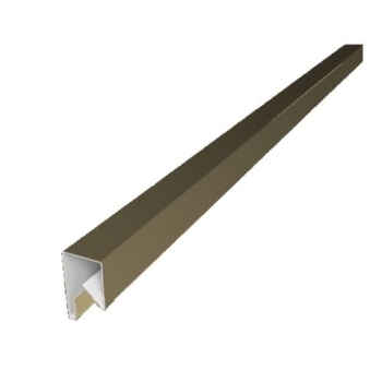 Планка П-образная заборная 17 мм RAL 1014