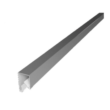 Планка П-образная заборная 17 мм RAL 9006