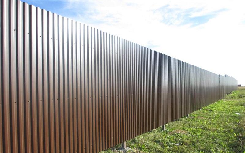 Забор из профлиста С21-1000