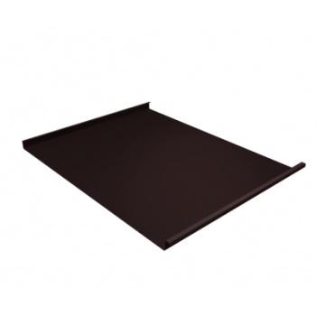 Фальц двойной стоячий 0,45 Drap с пленкой на замках RAL 8017 шоколад