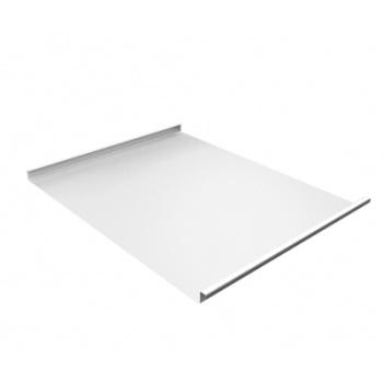 Фальц двойной стоячий 0,45 Drap с пленкой на замках RAL 9003 белый