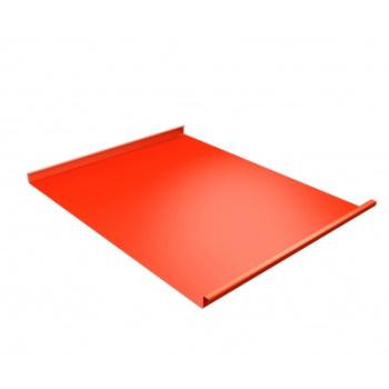 Фальц двойной стоячий 0,45 PE с пленкой на замках RAL 2004 оранжевый
