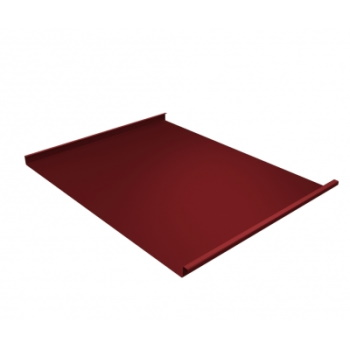Фальц двойной стоячий 0,45 Satin с пленкой на замках RAL 3011 коричнево-красный