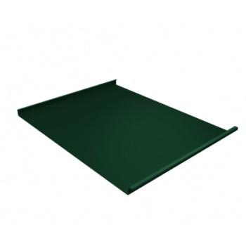 Фальц двойной стоячий 0,45 с пленкой на замках RAL 6005 зеленый мох