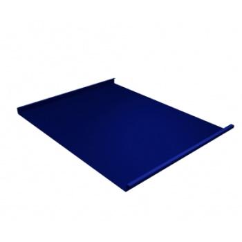 Фальц двойной стоячий 0,5 PE с пленкой на замках RAL 5002 ультрамариново-синий