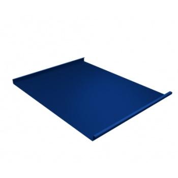 Фальц двойной стоячий 0,5 Satin с пленкой на замках RAL 5005 сигнальный синий