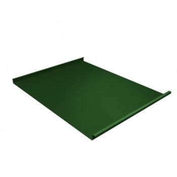 Фальц двойной стоячий 0,7 PE с пленкой на замках RAL 6002 лиственно-зеленый