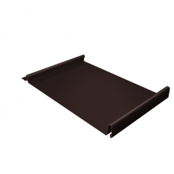 Кликфальц 0,5 PE с пленкой на замках RAL 8017 шоколад