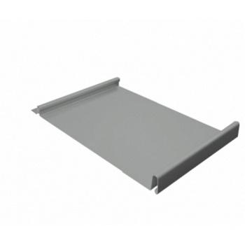 Кликфальц 0,5 PE с пленкой на замках RAL 9006 бело-алюминиевый