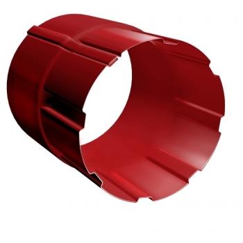 Соединитель трубы Grand Line 90 мм RAL 3011 коричнево-красный