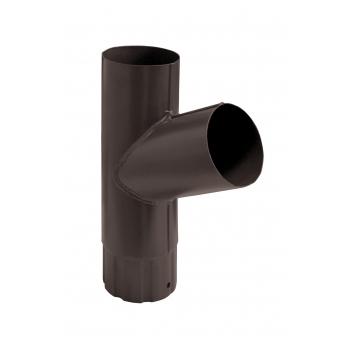 Тройник водосточной трубы Grand Line 100 мм RAL 8017 шоколад