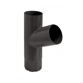 Тройник водосточной трубы Grand Line 100 мм RR 32 темно-коричневый