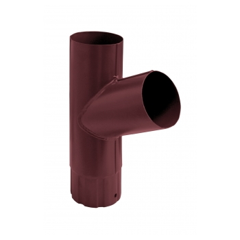 Тройник водосточной трубы Grand Line 90 мм RAL 3005 красное вино