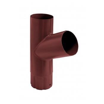 Тройник водосточной трубы Grand Line 90 мм RAL 3011 коричнево-красный