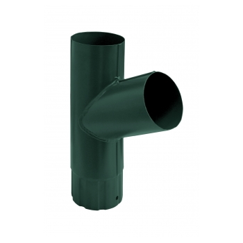 Тройник водосточной трубы Grand Line 90 мм RAL 6005 зеленый мох