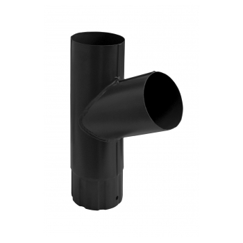 Тройник водосточной трубы Grand Line 90 мм RAL 9005 черный