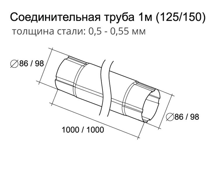 Водосточная труба 100 мм
