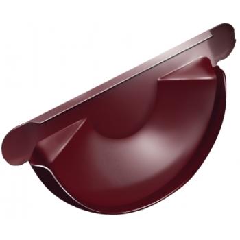 Заглушка для желоба Grand Line 125 мм RAL 3005 красное вино