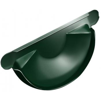 Заглушка для желоба Grand Line 125 мм RAL 6005 зеленый мох