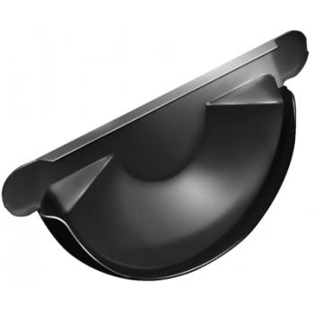 Заглушка для желоба Grand Line 125 мм RAL 9005 черный